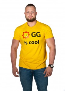 "Zółty T-Shirt Męski ""GG is cool"""