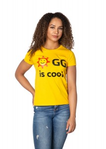 "Żółty T-Shirt Damski ""GG is cool"""